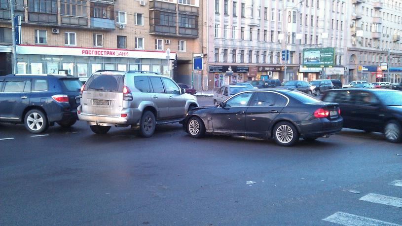 В Москве заметно снизилось количество аварий
