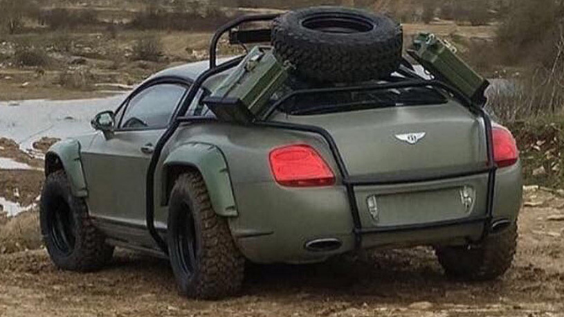 Роскошное купе Bentley превратили в бойца с бездорожьем