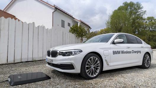 BMW предложит гибриду пятой серии беспроводную зарядку