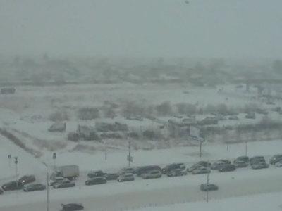 Транспортный коллапс в Омске, объявлено штормовое предупреждение