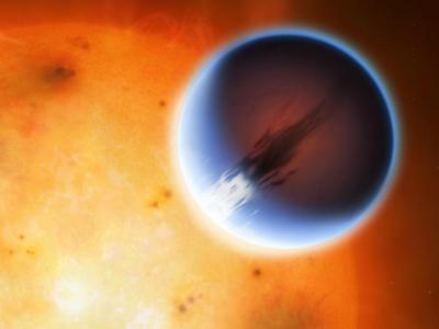 Необычайно сильные ветра обнаружены на далёкой экзопланете
