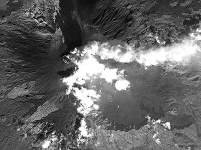 Извержение вулкана Этна. Снимки из космоса