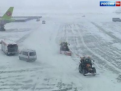 Ростовский аэропорт закрыт из-за ливневого снегопада