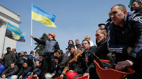 На Украине приступили к задержаниям митингующих шахтеров