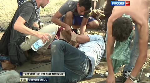 Стычка полиции и мигрантов на границе Венгрии и Сербии: слезоточивый газ и десятки пострадавших