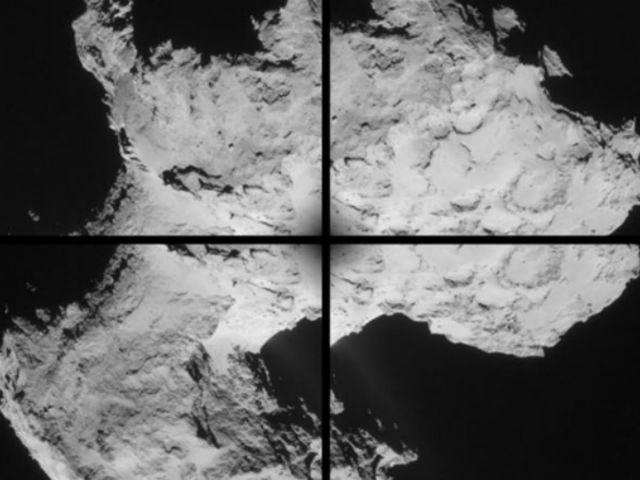 Новые снимки не выявили значительных ледяных полей (фото ESA/Rosetta/NAVCAM).