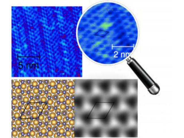 Подобно графену, германен имеет сотовую структуру и толщину в один атом (иллюстрация New Journal of Physics/IOP Publishing).