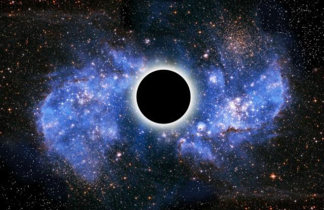 Чёрные дыры, согласно квантовой механике, испускают излучение Хокинга (иллюстрация Victor De Schwanberg/SPL).