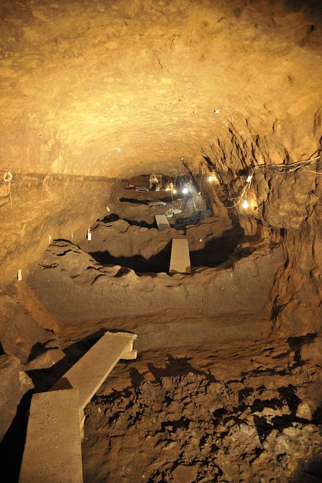 Заключительный отрезок туннеля (фото Hector Montano/INAH).
