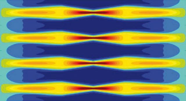 Световые волны создают промежутки, внутри которых можно замаскировать информацию (иллюстрация Lukens et al.).