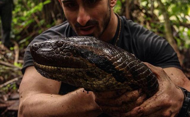 По словам Розоли, он хотел привлечь внимание к проблеме сохранения естественной среды обитания анаконд (фото Discovery Channel).