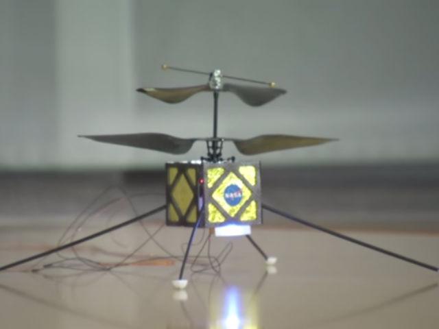 Тестовая версия будущего марсианского беспилотника (фото NASA).