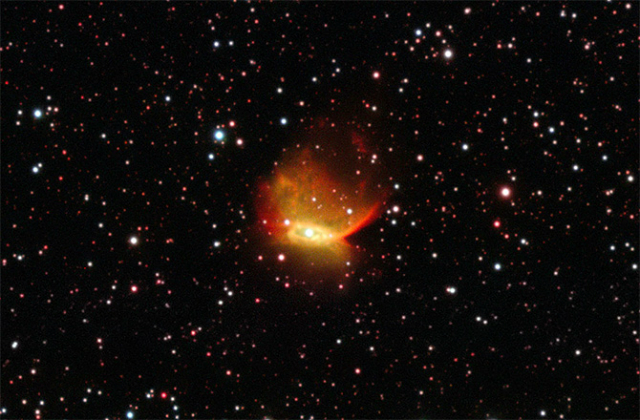 """Такой """"увидел"""" туманность Henize 2-428 """"Очень Большой Телескоп"""", расположенный в Чили (фото ESO)."""