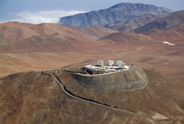 """Астрономы наблюдали за туманностью с помощью """"Очень Большого телескопа"""" (фото SPL)."""