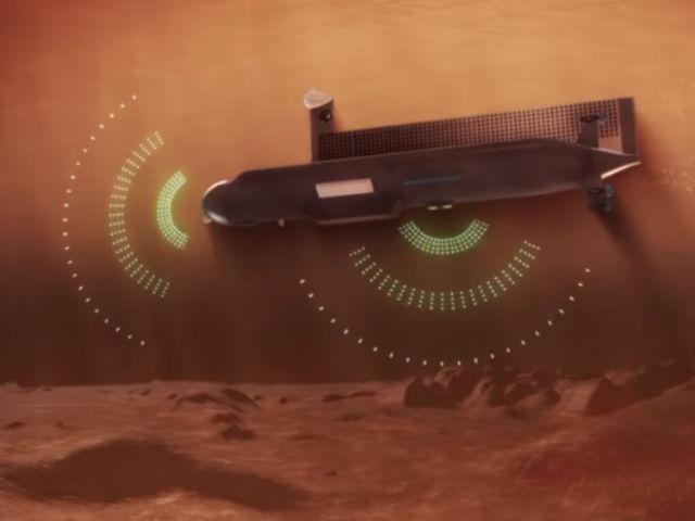 Первое внеземное судно должно обладать высокой степенью автономности. Ориентироваться в глубине ему поможет система гидролокаторов (иллюстрация NASA).