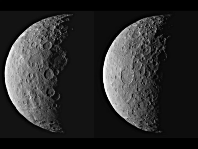 Церера с расстояния 40 тысяч километров (фото NASA/JPL-Caltech/UCLA/MPS/DLR/IDA).