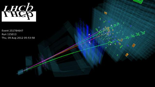 Физики работали с данными, собранными в 2012 году. Обновлённый коллайдер может принести много новой интересной информации (иллюстрация LHCb/CERN).
