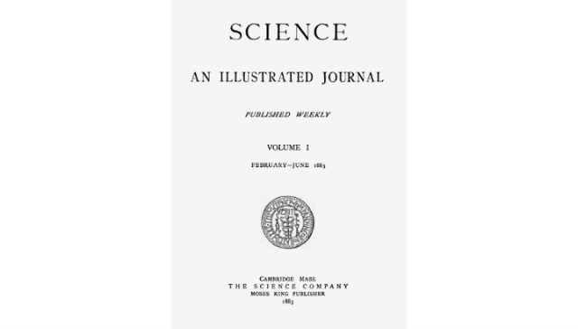Обложка одного из наиболее популярных научных журналов Science за февраль-июнь 1882 года (фото Wikimedia Commons).