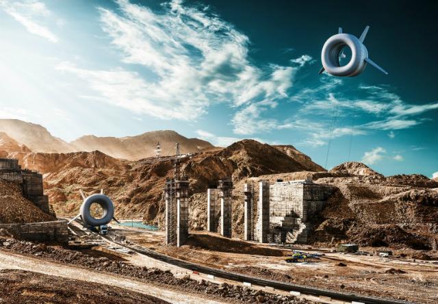 Tурбина способна выдавать 30 кВт мощности, чего достаточно для постоянного обеспечения энергией 12 среднестатистических домов (иллюстрация Altaeros Energies).