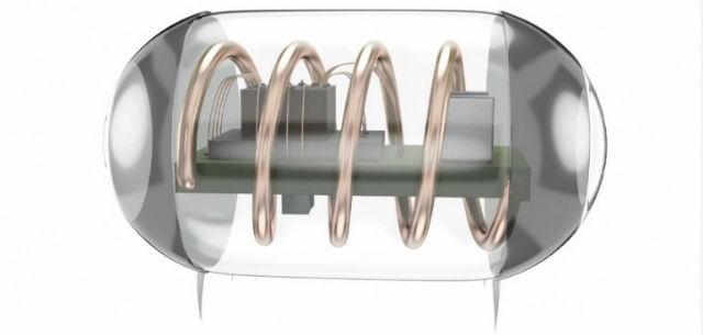 Предложенный учёными имплантат содержит крошечную катушку, которая без проводов получает энергию от внешнего генератора (иллюстрация Stanford University).