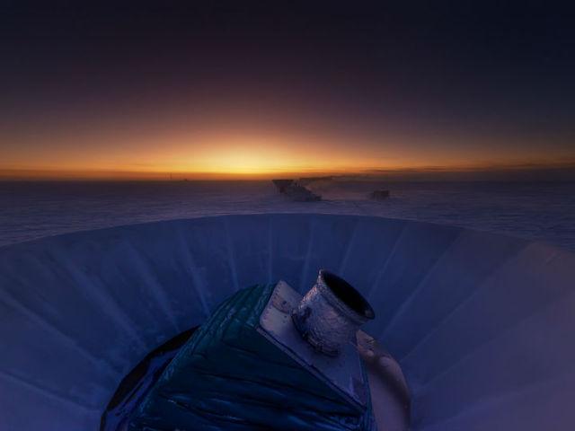Телескоп BICEP2 в Антарктиде, благодаря которому были открыты гравитационные волны (фото Steffen Richter, Harvard University).