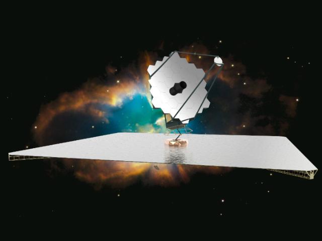 Художественное изображение возможного дизайна обсерватории ATLAST (Иллюстрация NASA).