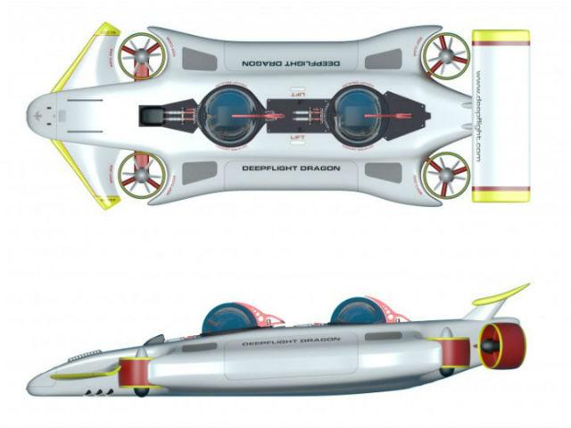 Новая модель DeepFlight Dragon будет показана на выставке яхт в Монако (иллюстрация DeepFlight).