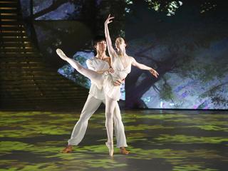 """Рената Шакирова – Кимин Ким. Па-де-де из балета """"Талисман"""". Фото Вадима Шульца"""
