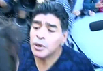 Журналист получил пощечину от Марадоны