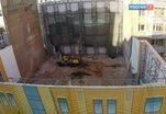 В Москве разрушили дом Прошиных с историческим фасадом начала ХХ века