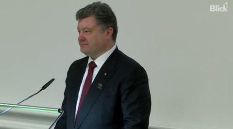 Студенты в Цюрихе освистали Порошенко
