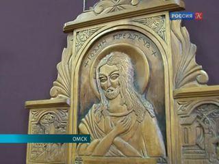 В Омске открылась выставка резной иконы