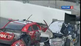 Авария на гонках в США: столкнулись 10 автомобилей