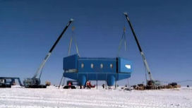 В Антарктике появился шагающий дом