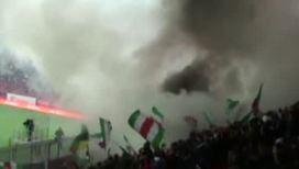 Болельщики устроили пожар на новой арене
