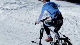 Зимний велосипед заменяет фитнес-клуб